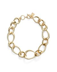 Anne Klein - Metallic Tapered Link Collar Necklace - Lyst