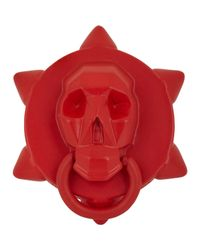 Ambush Skull Ring-Red Size Medium for men
