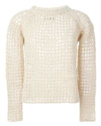 Zadig & Voltaire - Natural Fuzzy Fishnet Knit Sweater - Lyst