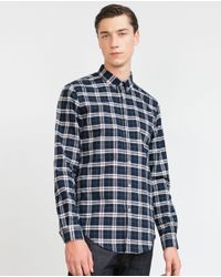 Zara | Green Check Shirt for Men | Lyst