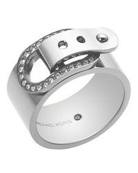 Michael Kors - Metallic Pave Buckle Ring - Lyst