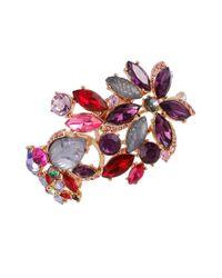 Betsey Johnson   Purple Fall Follies Stone Cuff Bracelet   Lyst