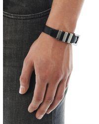 Saint Laurent Black Classic 3 Passants Bracelet for men