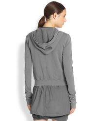 DRKSHDW by Rick Owens - Gray Zipfront Hoodie - Lyst