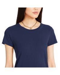 Polo Ralph Lauren | Blue Cotton Tee Dress | Lyst