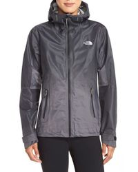 The North Face | Gray Fuseform Dot Matrix Hooded Waterproof Jacket | Lyst