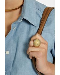 By Malene Birger Metallic Lil Goldplated Ring
