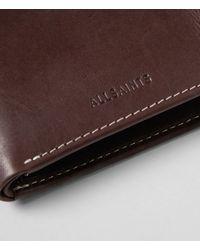 AllSaints Brown Havoc Wallet for men