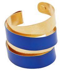 Herve Van Der Straeten Metallic Blue Wrap Cuff
