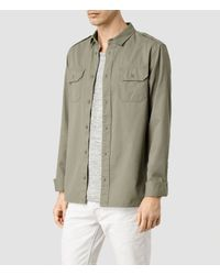 AllSaints | Natural Elias Shirt for Men | Lyst