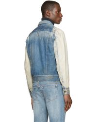 DIESEL | Blue Faded Denim D_jim Jacket for Men | Lyst