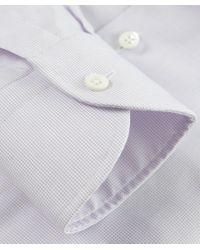 Corneliani | Purple Textured Slim Fit Shirt for Men | Lyst
