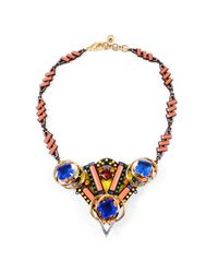 Lulu Frost - Pink Triangle Statement Necklace - Lyst