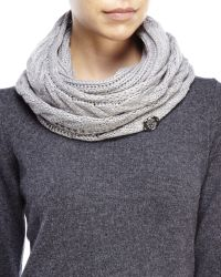 Vince Camuto | Gray Cable Knit Infinity Scarf | Lyst