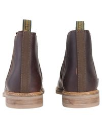 Barbour Brown Farsley Leather Chelsea Boots for men