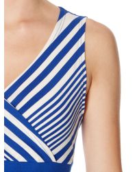 Dickins & Jones Blue Maxi Dress Stripe and Colour Block