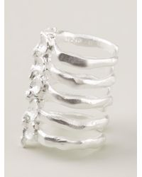 Bjorg - Metallic After Eden Spine Ring - Lyst