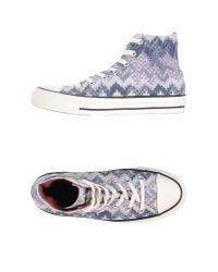 Converse - Blue High-tops & Trainers - Lyst