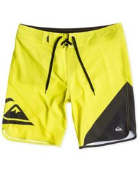 "Quiksilver | Yellow New Wave 20"" Board Shorts for Men 