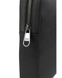 BOSS - Black 'sumei' | Calfskin Workbag With Detachable Shoulder Strap for Men - Lyst