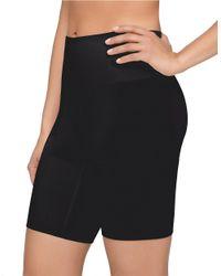 Yummie By Heather Thomson | Black Margie Mid-waist Thigh Shaper Shorts | Lyst