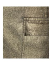 Tomas Maier - Metallic Denim Cotton Skirt - Lyst