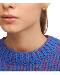 Tory Burch Metallic Small T-logo Stud Earring