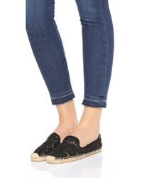 Soludos - Black Lace Espadrille Slip-on - Lyst
