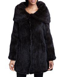 Belle Fare - Brown Mink Fur Oversized-collar Coat - Lyst