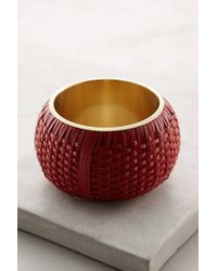 Anthropologie | Red Woven Bangle | Lyst