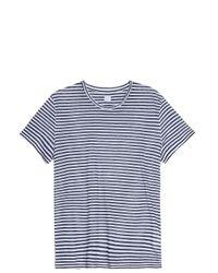 120% Lino - Blue Stripe T-shirt for Men - Lyst