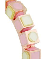 Eddie Borgo - Pink Mosaic Cube Rose Gold-plated Bracelet - Lyst