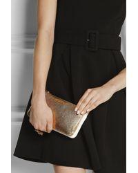 Miu Miu - Metallic Piccole Leather Shoulder Bag - Lyst