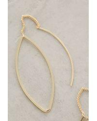 Anthropologie | Metallic Threaded Almond Earrings | Lyst