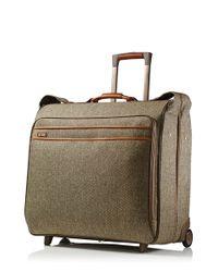 Hartmann Natural 'large Tweed' Wheeled Garment Bag for men