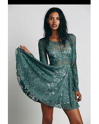Free People Gray Womens Lovers Folk Song Dress