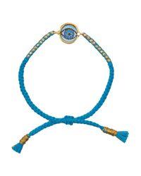 Iam By Ileana Makri | Blue Evil Eye Gold-Plated, Enamel And Cotton Bracelet | Lyst