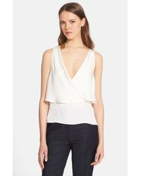 Theory | White 'alizay' Silk Top | Lyst