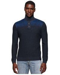 Calvin Klein Jeans | Blue Electric Felted Mockneck Sweater for Men | Lyst