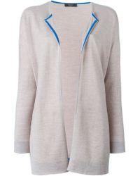 Paul Smith Black Label - Natural Open Front Cardigan - Lyst