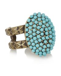 Isabel Marant - Blue Nitto Gold-Tone Resin Ring - Lyst