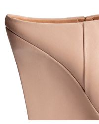 H&M - Natural Leather Mules - Lyst