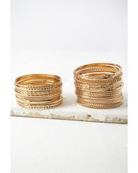 Forever 21 | Metallic Etched And Twisted Bangle Set | Lyst