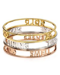 kate spade new york | Metallic Good As Gold Words Of Wisdom Bangle | Lyst