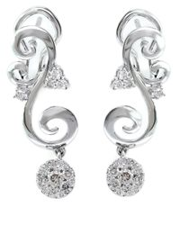 Effy | Bouquet Diamond And 14k White Gold Drop Earrings | Lyst