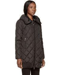 Moncler | Black Down Crozant Coat | Lyst