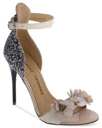Chinese Laundry - Blue Lullaby Two-piece Flower Beaded Sandals - Lyst