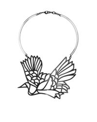 Carven - Black Bird Necklace - Lyst