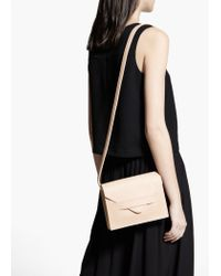 Mango Natural Flap Cross-Body Bag