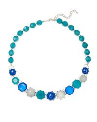 Catherine Stein Blue Beaded Collar Necklace